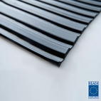 5mm wide ribbed rubber matting 1200mm