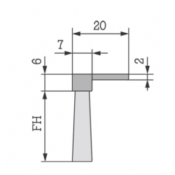 Flexible Brush Strips P-26/20mm