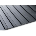 3mm wide ribbed rubber matting 2000mm