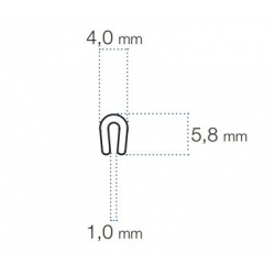 U-Profile 1mm PVC
