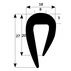 Fender profile PVC0010 Black