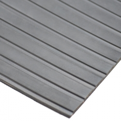 Wide ribbed Hektor rubber matting 4,5mm - 1800mm