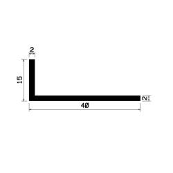 L-Profile 40x15x2mm Black