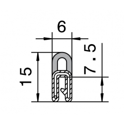 Edge Trim 0,5-1,5mm w. topseal