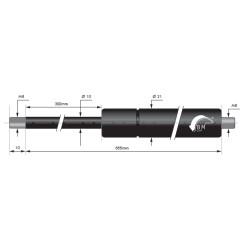 Gasspring 300mm 10/21mm