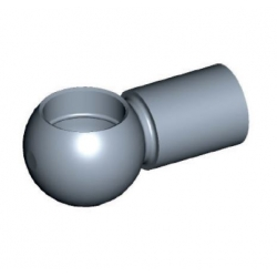 Ball head to Ø10mm Steel