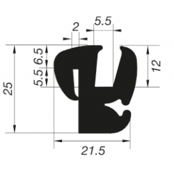 G5-6/P2mm S-Type Window Profile
