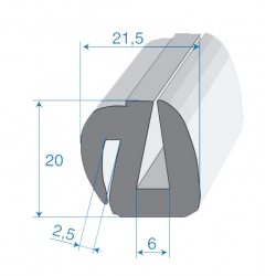 G6/P2-3mm S-Type Window Profile