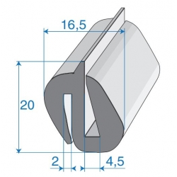 G4-5/P2mm S-Type Window Profile