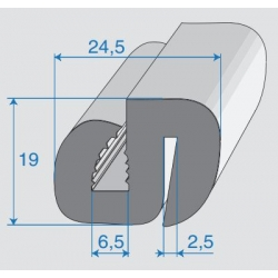 G6-7/P2-3mm S-Type Window Profile