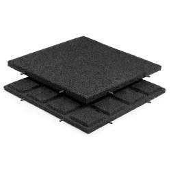 Rubber Tiles Black 30mm 500x500mm