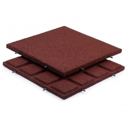 Rubber Tiles Red 30mm 500x500mm