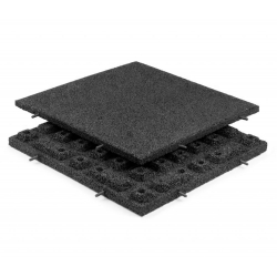 Rubber Tiles Black 40mm 500x500mm