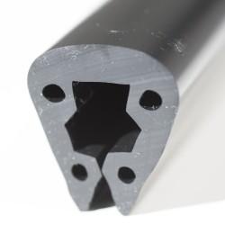 Fenderliste PVC Sort