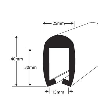 Fender profile PVC255 Black