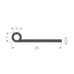 P-Profil 30mm ø10mm